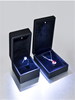 2016 wholesale new products leather marriage gift ring necklace box/case with led lights