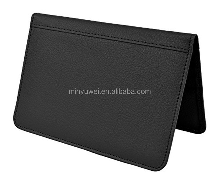 RFID blocking leather passport holder High Quality Soft fashion the Cover Of The Passport Holder
