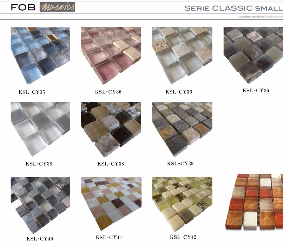 glass mosaic clear transparent