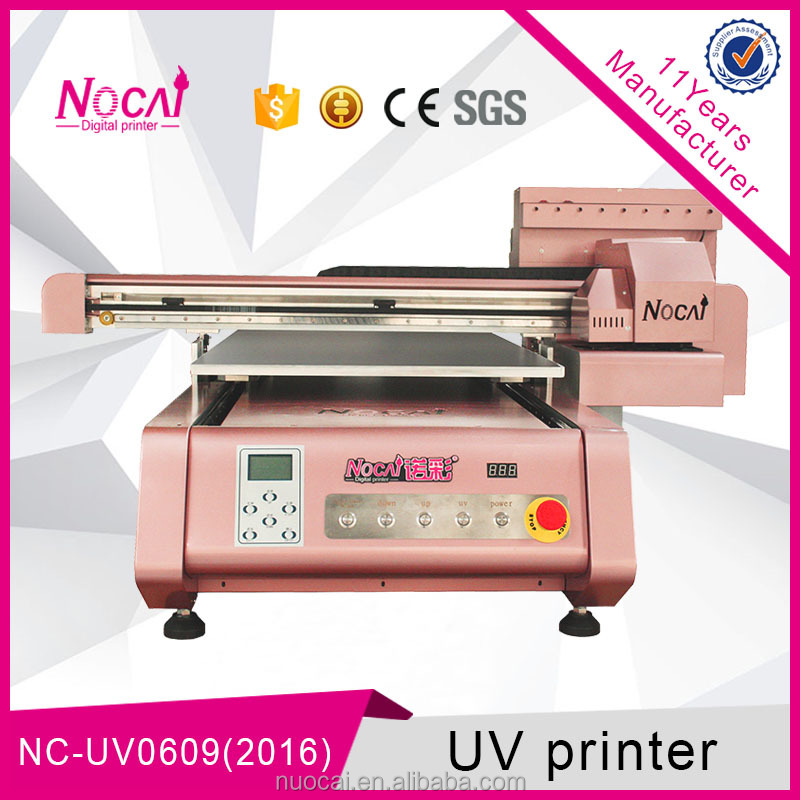 Factory Direct Supply Nuocai 60*90 cm a1 maat wit kleur led uv flatbed printer voor Verkoop