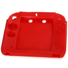 2016 New Fashion Color Protective Silicone Soft Case Cover Skin For 2DS Red Rubber Bumper Gel Skin Sleeve Cover Hot sele