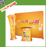2017 tension display fabric pop up stand for exhibitions and fairs