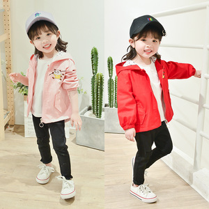 S51030A Spring Autumn Fashion Thin Coat Child Jacket Hoodies Windbreaker