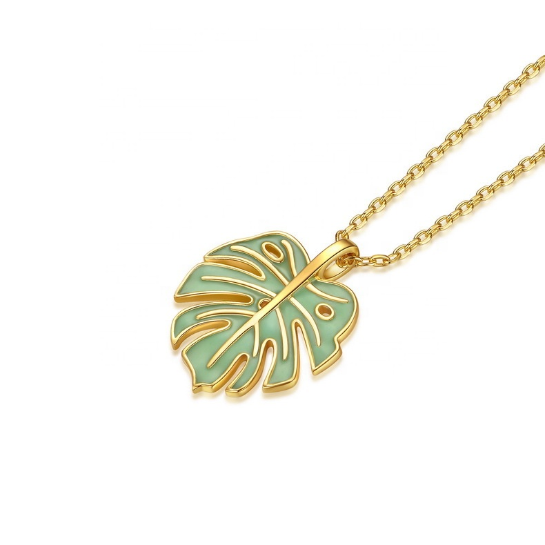 Unique Turtle Bamboo Leaves Style 925 Sterling Silver Necklace <strong>Pendant</strong>