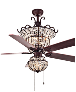 Modern Design Matte Black Fan Acrylic Lampshade Energy Saving Electric Ceiling Fan With Light
