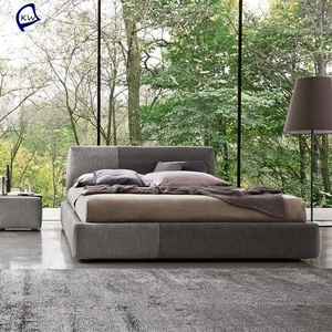 Luxury furniture king size bed leather bed set