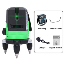 Borka automatic self leveling 4V1H 5 lines 6 points green beam 360 rotary level laser