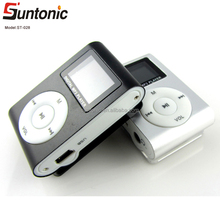 hotselling FM clip mp3 player with LCD screen and FM functions
