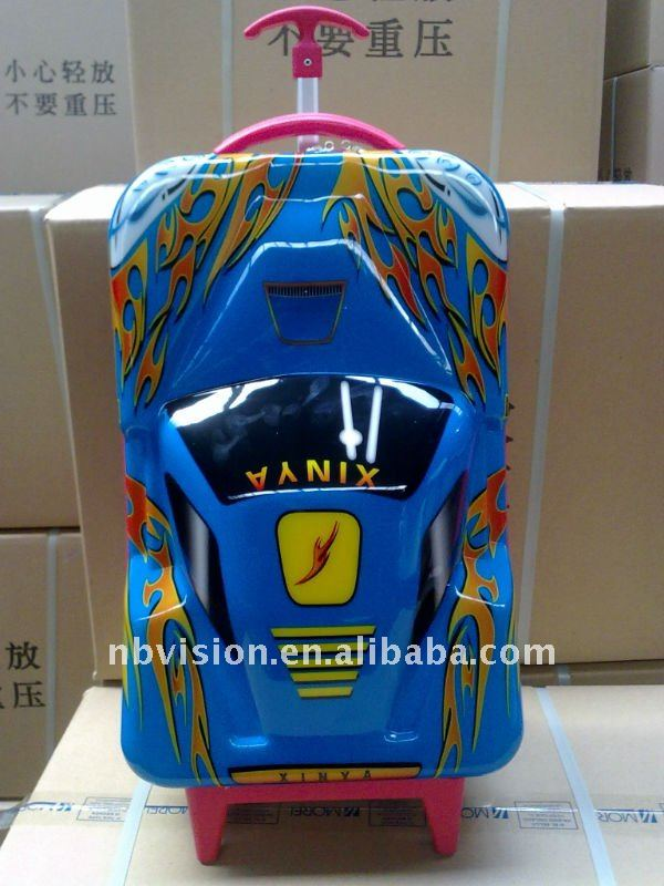 ABS children car shape luggage