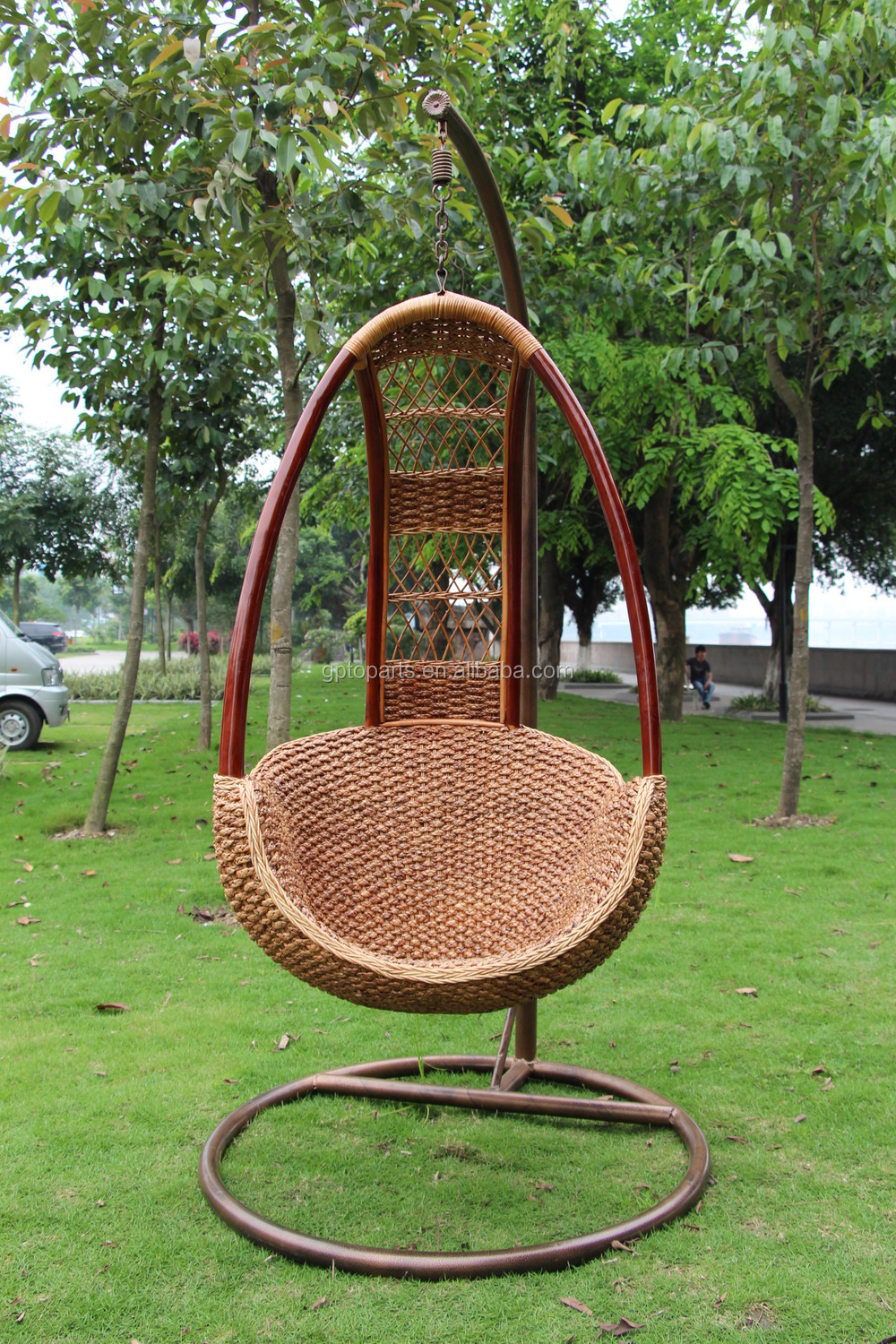 Designer Cane Hanging Outdoor Garden Swing Chair Hammock Wicker