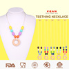 Wholesale Turquoise Silicone Rubber Necklace/Amber Teething Necklace