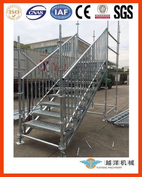 Outdoor Steel Stairs Landing For Event Or Warehouse