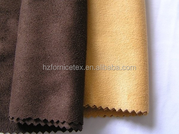 W Hot sale 100% polyester 150cm paper backing self adhesive suede
