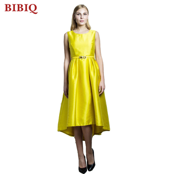 Pictures Of Latest Gowns Designs Yellow Midi Prom Dresses 2017 - Buy ...