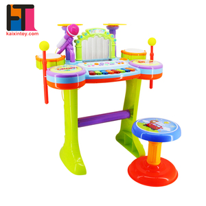 multifunctional kids learning musical toys fountain electric organ with microphone