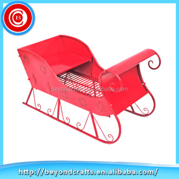 china supplier sales metal christmas decoration christmas ornament outdoor metal christmas sleigh