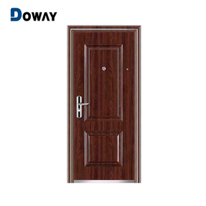 Flat iron safety metal door design