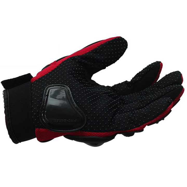 Outdoor Riding Touch Screen Racing Full Finger Motorcycle Windproof Gloves, Red;blue;black;gray