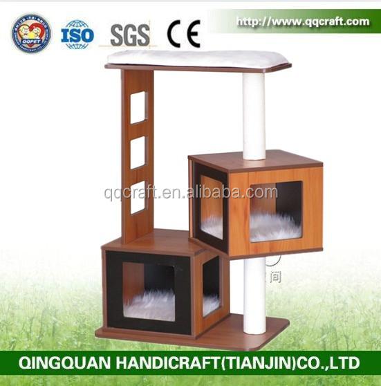 qqpet neues moderne kratzbaum m bel natur holz katze m bel haustierspielzeug produkt id. Black Bedroom Furniture Sets. Home Design Ideas