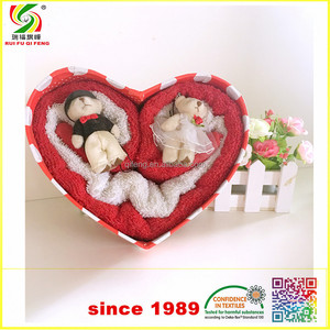 cotton Terry customized promotional gift towel packing ideas for wedding