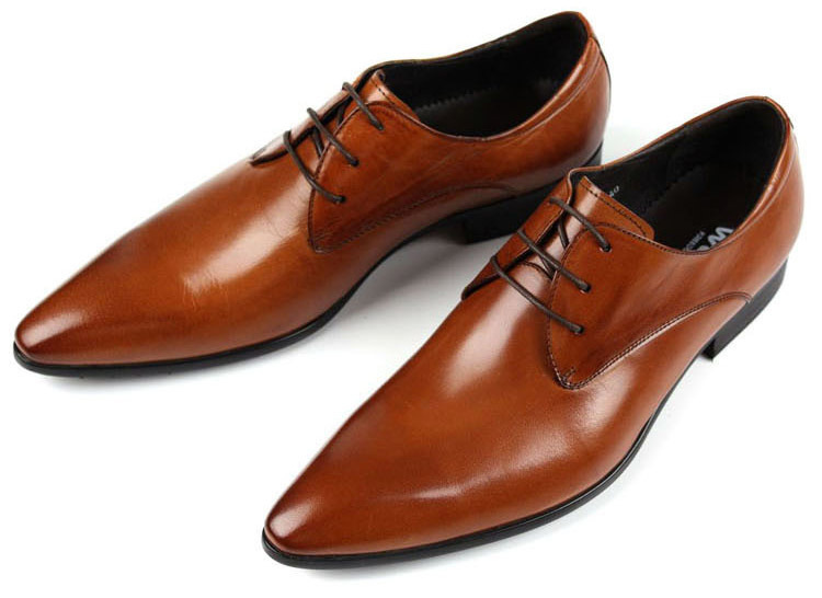 NEW 2015 Italian designer black brown cowhide genuine leather men dress shoes flats for wedding office business size:6-10 OX103