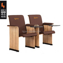 simple theater furniture auditorium chair seating seat HJ9915-V with writing table in arm