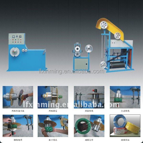 High speed electric motor cable coil winding machine