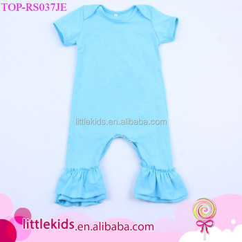 b21d4f06d Baby Girl Cotton Knit Double Layers Ruffle Rompers Wholesale Newborn  Premature Infant One - Piece Icing