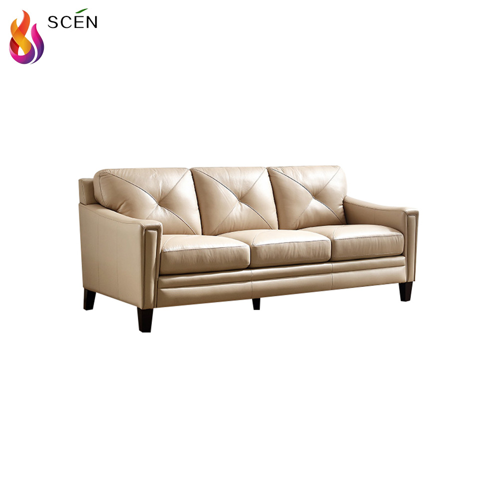Anese Vintage Victorian Style Leather Sofa