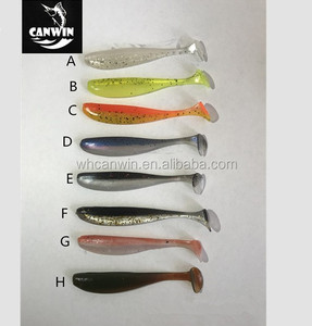 CANWIN Fishing Lures Soft Bait 70mm 2g Silicone Bass Minnow Bait Swimbaits Plastic Lure Pasca Shad Soft Lure