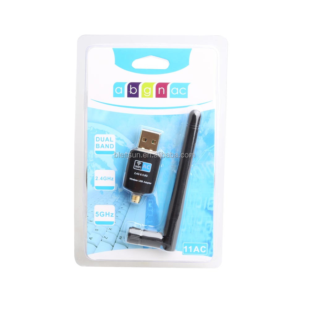 802.11AC 600Mbps USB WiFi Adapter Dual Band Network Adapter with RTL8811AU Chipset