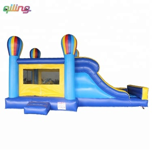 New design children toy hot air balloon slide inflatable bouncer