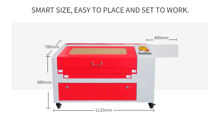 Great After-sale Service 6040 Small CO2 Laser Engraver For Wood Acrylic Glass Leather