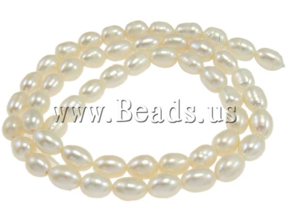 Free shipping!!!Rice Cultured Freshwater Pearl Beads,New Arrival, natural, white, A, 4-5mm, Hole:Approx 0.8mm, Length:14 Inch