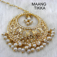 22kt Gold Plated Maang Tikka Jewelry