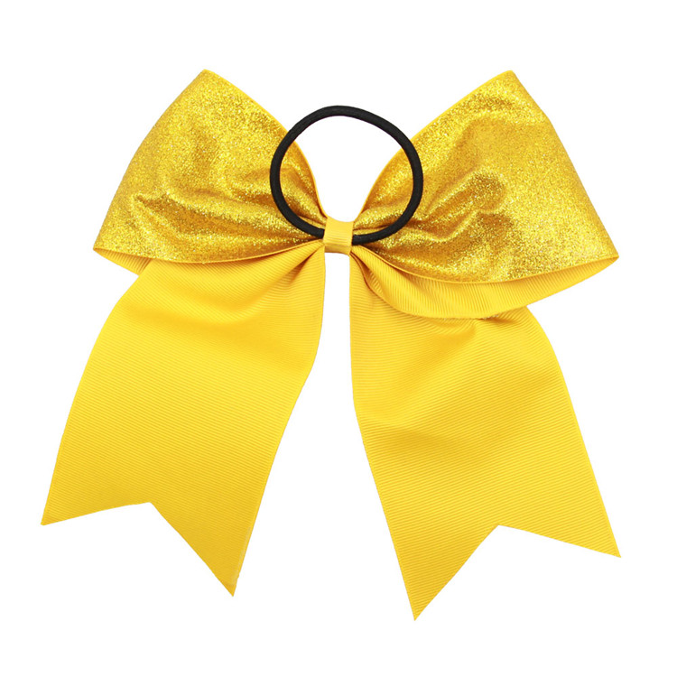 Wholesale Cheer Bow Bowknot Glitter Fashion Adult Cheerleading Custom Print Hair Bow