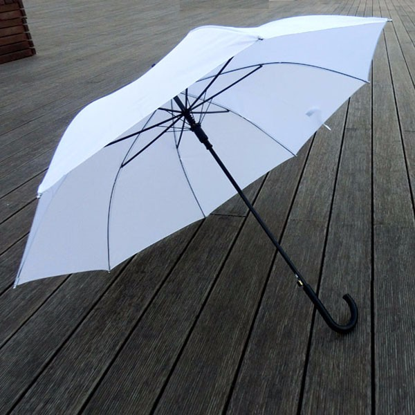 Personal parasol sun protect cheap plain Straight White Umbrella