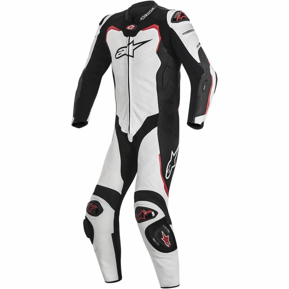 Alpinestars Gp Pro Black/White/Red Size 46 Leather Suit For Tech-Air Race - 1 Piece