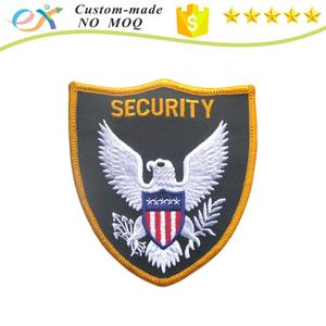 custom security embroidered patch badge for uniform