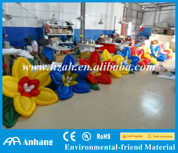 Wedding Aisle Colorful Inflatable Flowers Decoration