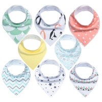 High quality 2 layers organic cotton baby bibs set with metal snap