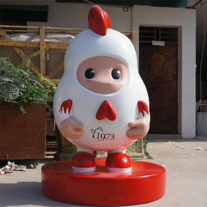 Custom Fiberglass Chicken Sculpture for Food Shop