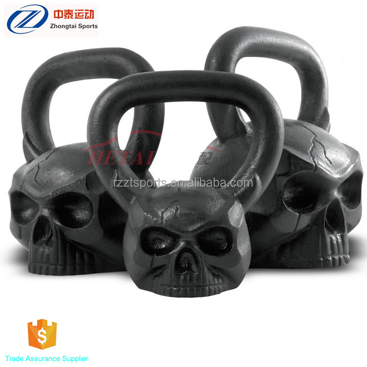 <strong>Weight</strong> lifting monster shaped skull kettlebell