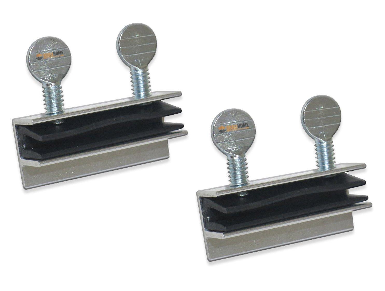 Qualihome Aluminum Double Thumb Screw Turn Patio Sliding Door and Window Lock, 2 Pack