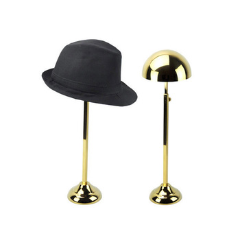 Attirant Round Single Metal Hat Holder Tabletop Hat Display Stand