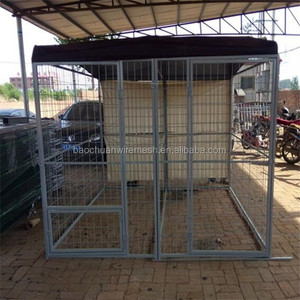 Eco-friedly and stocked galvanized large outdoor folding dog kennels/dog cages/pet houses
