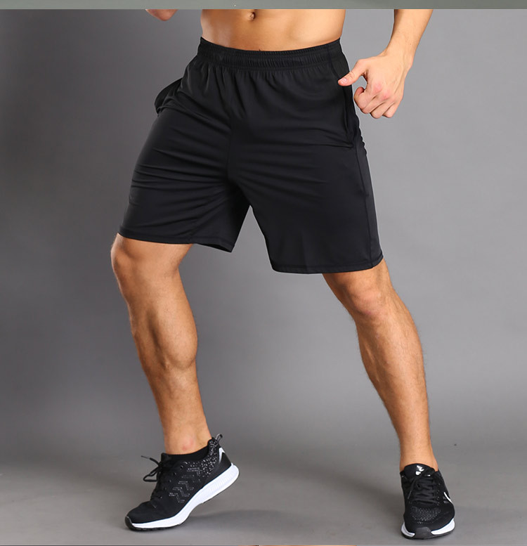 Men's Sports Running Fitness Training Shorts Elasticated Strap Pocket Quick-drying Shorts фото