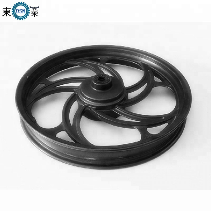 TS16949 manufacturers custom sand gravity casting aluminium with rubber wheels