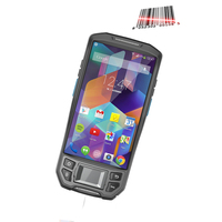 LTE 4G data collector Portable handheld Android biometric fingerprint scanner with printer fingerprint reader