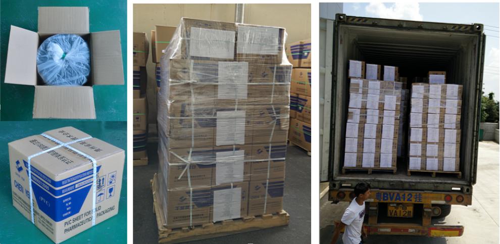 Pharma Verpakking Grade Clear Pvc Plastic Film Roll Voor Blister